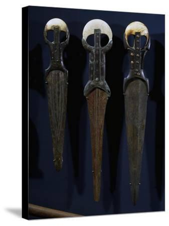 Bronze Swords and Daggers, with Electron Blades, Ivory Handles and Copper Nails--Stretched Canvas Print