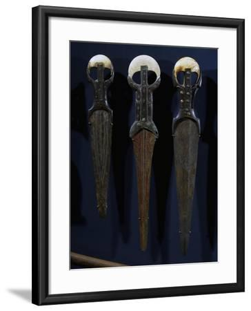 Bronze Swords and Daggers, with Electron Blades, Ivory Handles and Copper Nails--Framed Giclee Print