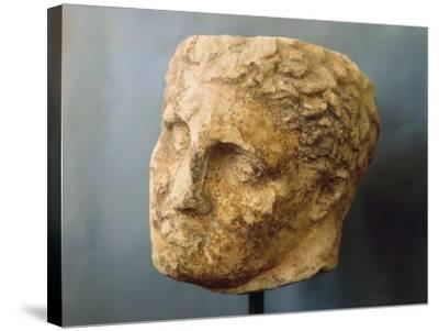 Marble Male Head Attributed to Skopas of Paros--Stretched Canvas Print