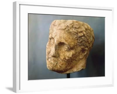 Marble Male Head Attributed to Skopas of Paros--Framed Giclee Print