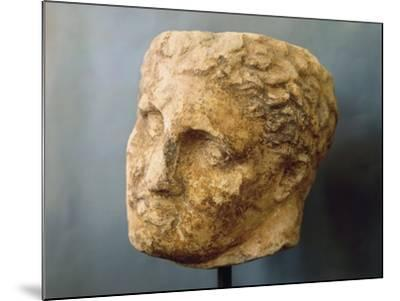 Marble Male Head Attributed to Skopas of Paros--Mounted Giclee Print