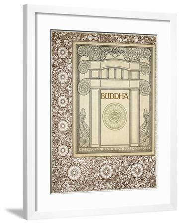 Discourses of the Buddha, Siddhartha Gautama, Frontispiece from German Behemen Publishing, Berlin--Framed Giclee Print