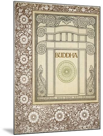 Discourses of the Buddha, Siddhartha Gautama, Frontispiece from German Behemen Publishing, Berlin--Mounted Giclee Print