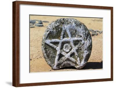 Stone with Star of David, Beja Castle, Alentejo, Portugal--Framed Giclee Print