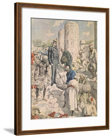 Archaeological Excavations in Antinoe from Petit Journal, 1904--Framed Giclee Print