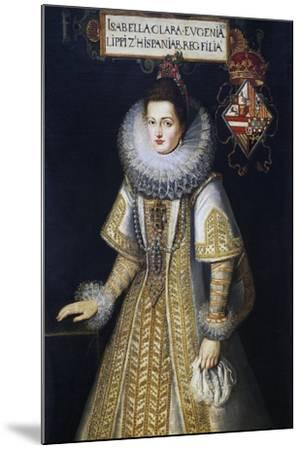 Portrait of Isabella of Austria--Mounted Giclee Print