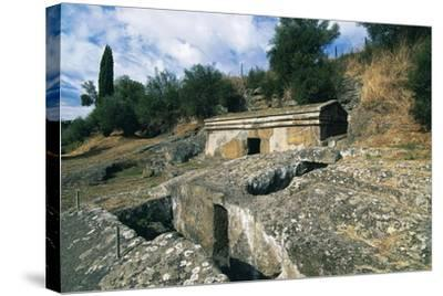 Cube Tomb, Etruscan Necropolis of Peschiera, Tuscania, Lazio, Italy--Stretched Canvas Print