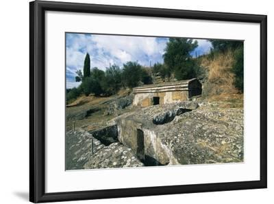 Cube Tomb, Etruscan Necropolis of Peschiera, Tuscania, Lazio, Italy--Framed Giclee Print