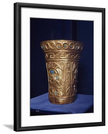 Vase with Human Face, Chimu Culture, Pre-Columbian Era, Peru, 14th-15th Century--Framed Giclee Print