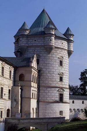 Tower of Krasiczyn Castle in Poland, 16th Century--Framed Giclee Print
