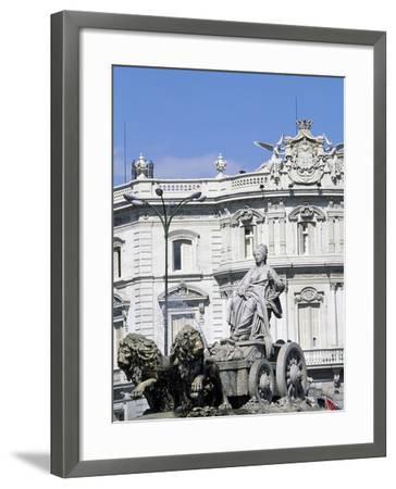 Spain, Madrid, Plaza De Cibeles, Fountain of Cybele, Detail, 1782--Framed Giclee Print