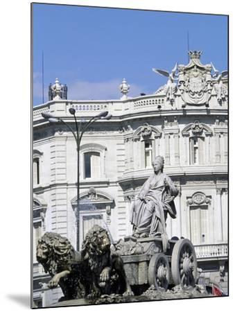 Spain, Madrid, Plaza De Cibeles, Fountain of Cybele, Detail, 1782--Mounted Giclee Print
