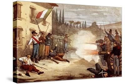 Attack on Ciro Menotti's House on the Night of February 3, 1831--Stretched Canvas Print