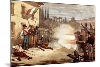 Attack on Ciro Menotti's House on the Night of February 3, 1831--Mounted Giclee Print