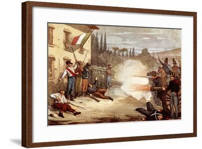 Attack on Ciro Menotti's House on the Night of February 3, 1831--Framed Giclee Print