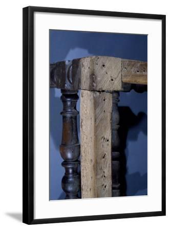 Walnut Frame of Lombard Rocchetto Chair, Italy, Detail--Framed Giclee Print