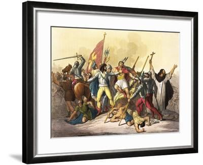 Atahualpa King of Incas Captured by Pizarro Taken from South America by Giulio Ferrario, 1827--Framed Giclee Print