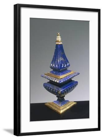 Lapis Lazuli and Gilded Silver Salt Cellar, 16th Century--Framed Giclee Print