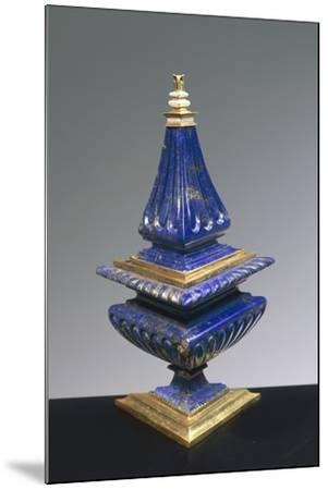 Lapis Lazuli and Gilded Silver Salt Cellar, 16th Century--Mounted Giclee Print