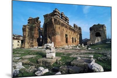 Turkey Pergamon Red Basilica, Pergamon, Turkey--Mounted Giclee Print