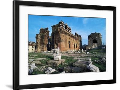Turkey Pergamon Red Basilica, Pergamon, Turkey--Framed Giclee Print