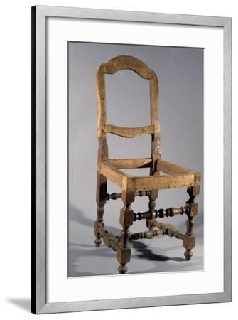 Walnut Frame of Lombard Rocchetto Chair, Italy--Framed Giclee Print