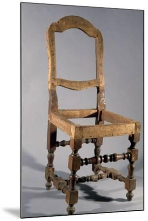 Walnut Frame of Lombard Rocchetto Chair, Italy--Mounted Giclee Print