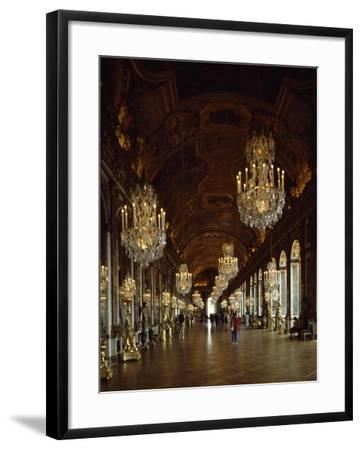 Hall of Mirrors, Palace of Versailles , France--Framed Giclee Print