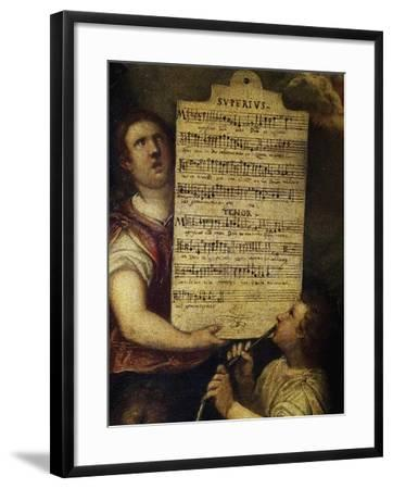 Sheet Music for Magnificat for 4 Voices--Framed Giclee Print