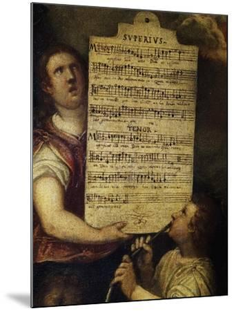 Sheet Music for Magnificat for 4 Voices--Mounted Giclee Print