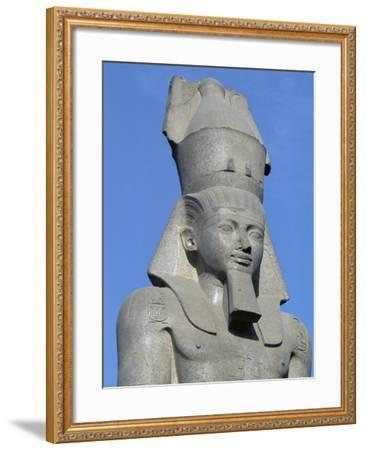 Colossal Statue of Ramses II, Cairo--Framed Giclee Print