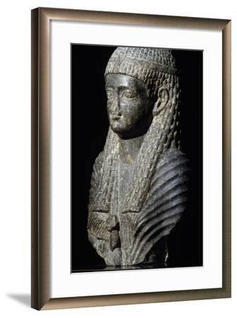 Ptolemaic Queen, Granite Statue, Found in Fouah, Ptolemaic Period BC--Framed Giclee Print