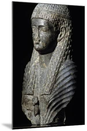 Ptolemaic Queen, Granite Statue, Found in Fouah, Ptolemaic Period BC--Mounted Giclee Print