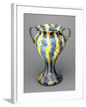 Flower Vase with Murrine, 1910-1920, Italy--Framed Giclee Print
