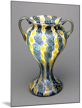 Flower Vase with Murrine, 1910-1920, Italy--Mounted Giclee Print