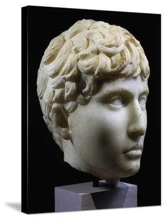 Marble Head of Young Barbarian, Artifact from Volubilis, Morocco, 27-14 BC--Stretched Canvas Print
