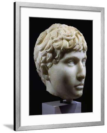 Marble Head of Young Barbarian, Artifact from Volubilis, Morocco, 27-14 BC--Framed Giclee Print