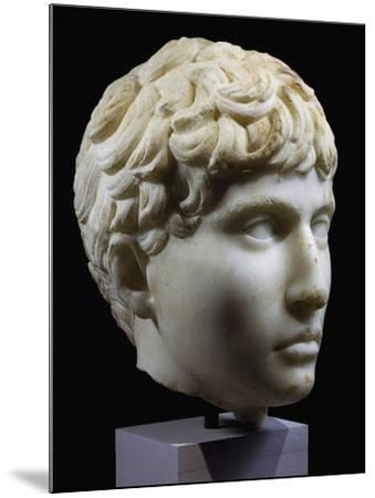 Marble Head of Young Barbarian, Artifact from Volubilis, Morocco, 27-14 BC--Mounted Giclee Print