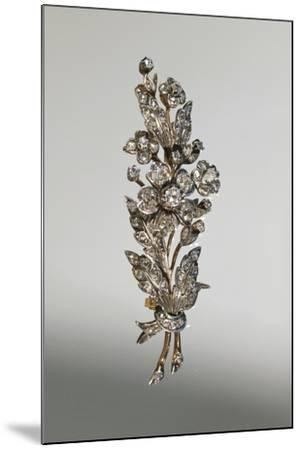 Diamond Brooch in Form of Branch in Blossom, around 1890--Mounted Giclee Print