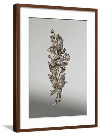 Diamond Brooch in Form of Branch in Blossom, around 1890--Framed Giclee Print