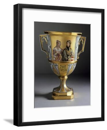 Gothic-Style Dessert Cup Created for Imperial Castle of Laxenburg, 1821-1824--Framed Giclee Print
