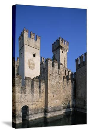 Italy, Lombardy, Sirmione, View of Scaliger Castle--Stretched Canvas Print