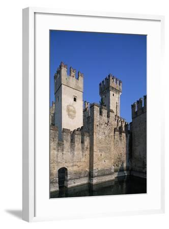 Italy, Lombardy, Sirmione, View of Scaliger Castle--Framed Giclee Print