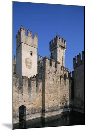 Italy, Lombardy, Sirmione, View of Scaliger Castle--Mounted Giclee Print