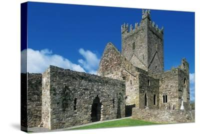 Jerpoint Abbey, Cistercian Abbey, Founded in 1158, County Kilkenny, Ireland--Stretched Canvas Print