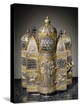 Incense Burners and Reliquary in Shape of Domed Building, Filigreed--Stretched Canvas Print