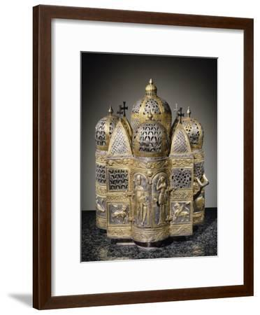 Incense Burners and Reliquary in Shape of Domed Building, Filigreed--Framed Giclee Print