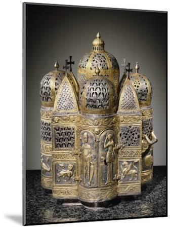 Incense Burners and Reliquary in Shape of Domed Building, Filigreed--Mounted Giclee Print