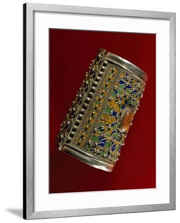 Bracelet in Coral, Silver and Enamel, Morocco--Framed Giclee Print