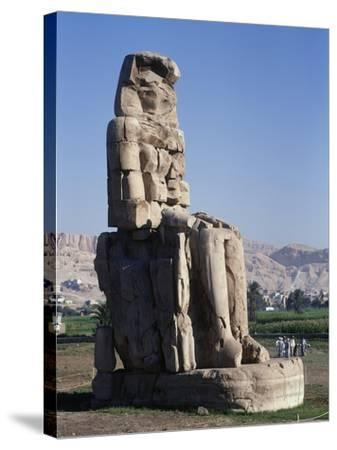 Egypt, Luxor Governorate, Karnak, Statue of Amenhotep III--Stretched Canvas Print